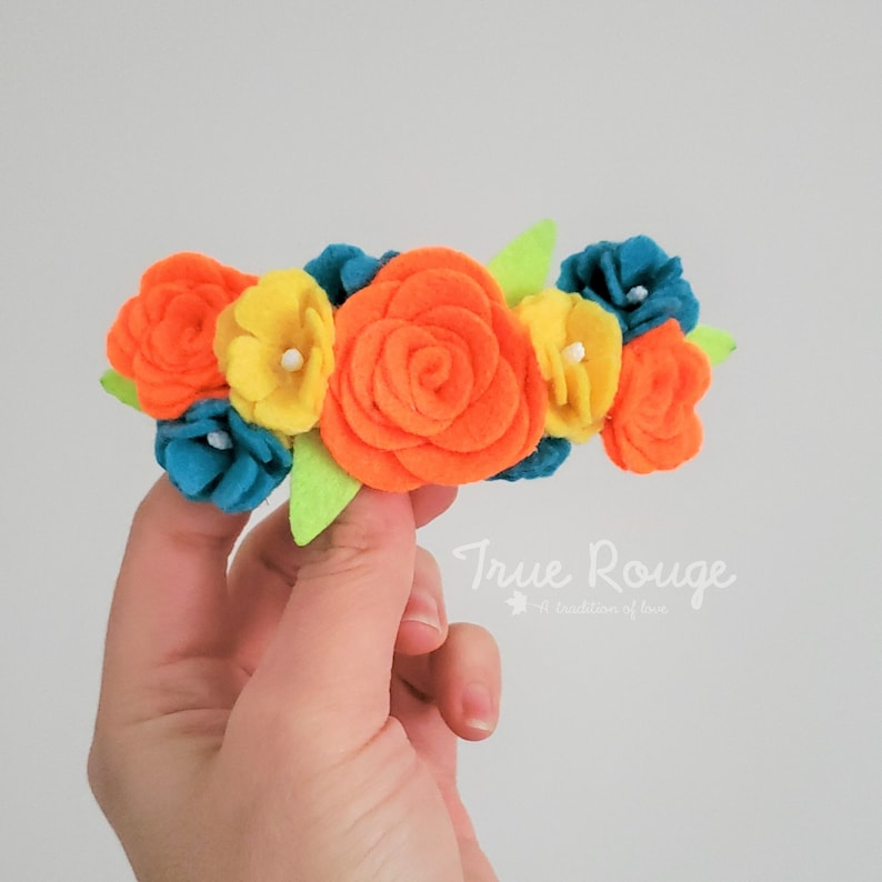 Neon Felt Flower Headband  Ready-to-ship image 0