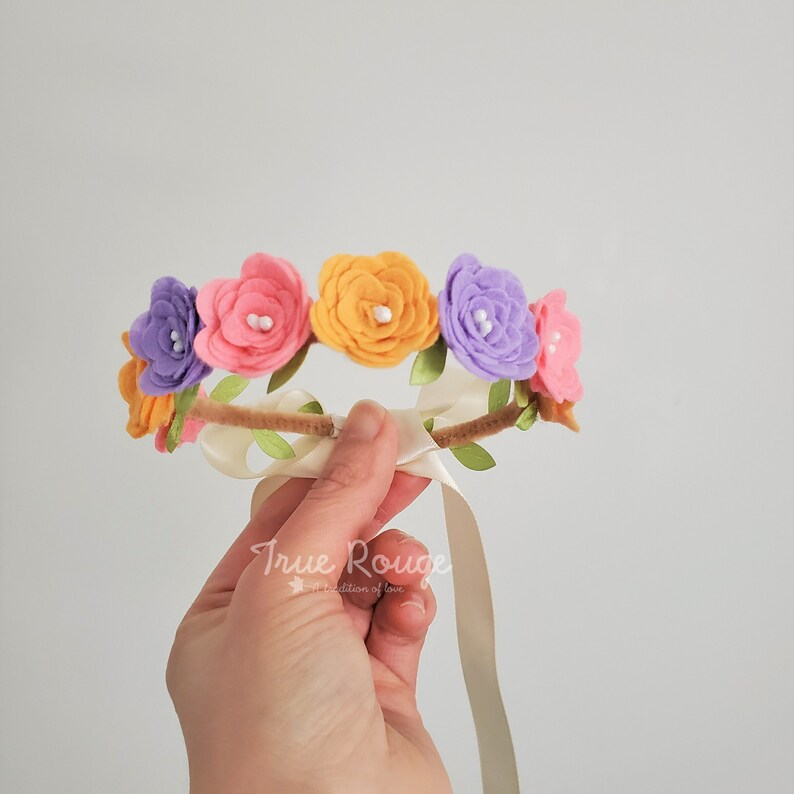 Petit Fiesta Baby Flower Crown image 0