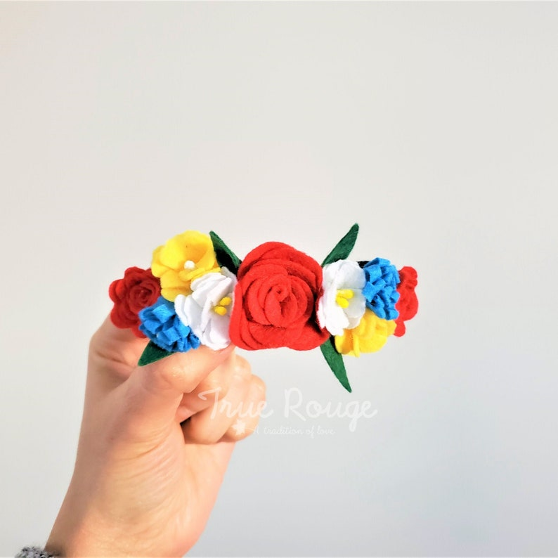 Colorful Fiesta Felt Flower Headband image 0