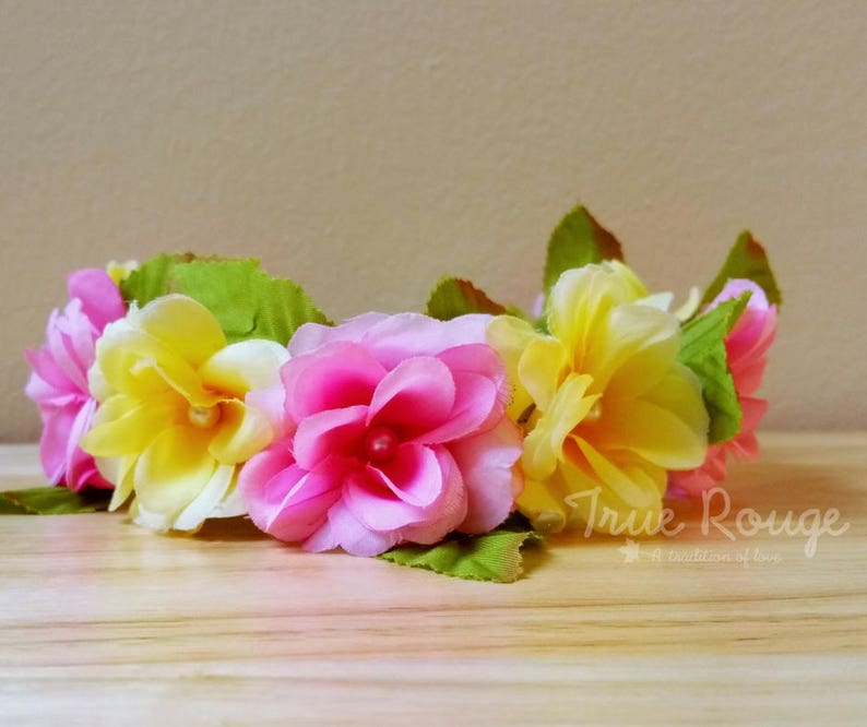 Boho Flower Crown ideal for Hawaiian parties or complement image 0