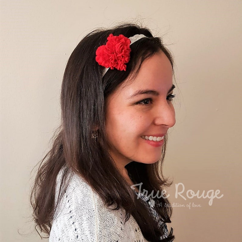 Lovely Puffy Read Heart Headband perfect for Valentine's image 0