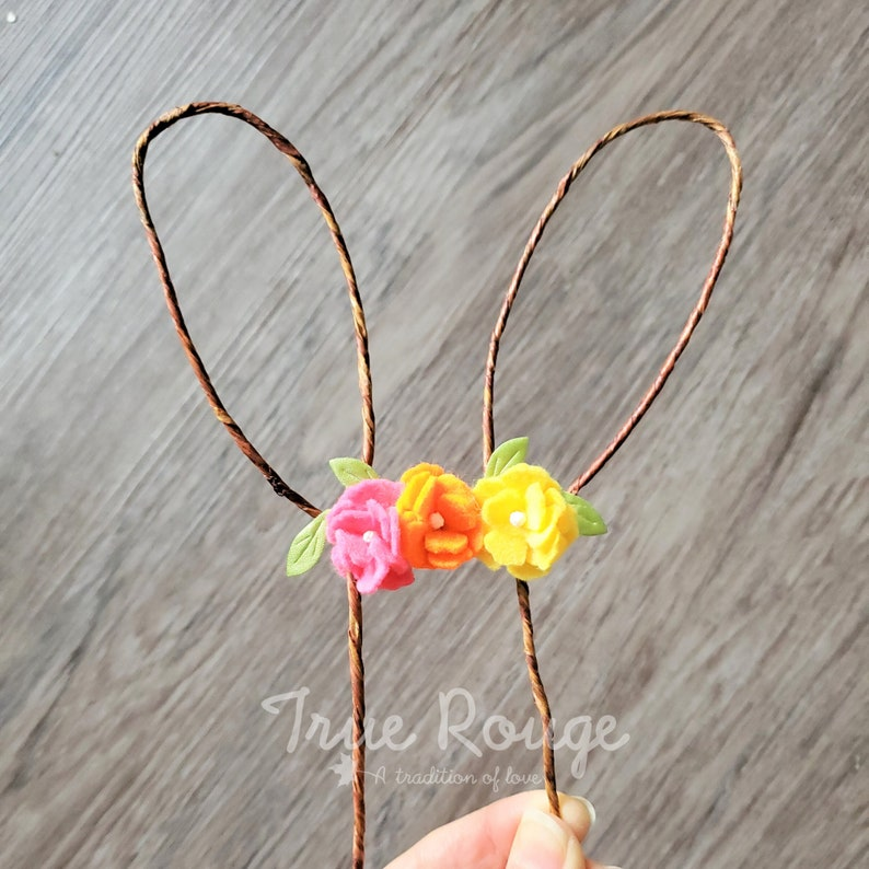 Bunny Ear Cake Topper for Easter  Ready-to-ship image 0