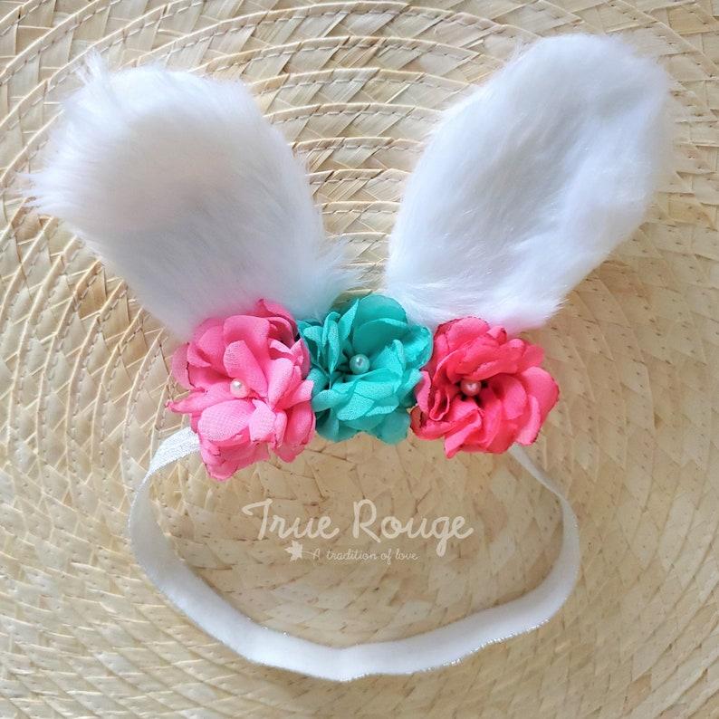 Sweet Bunny Ears Easter Headband  Ready-to-ship image 0