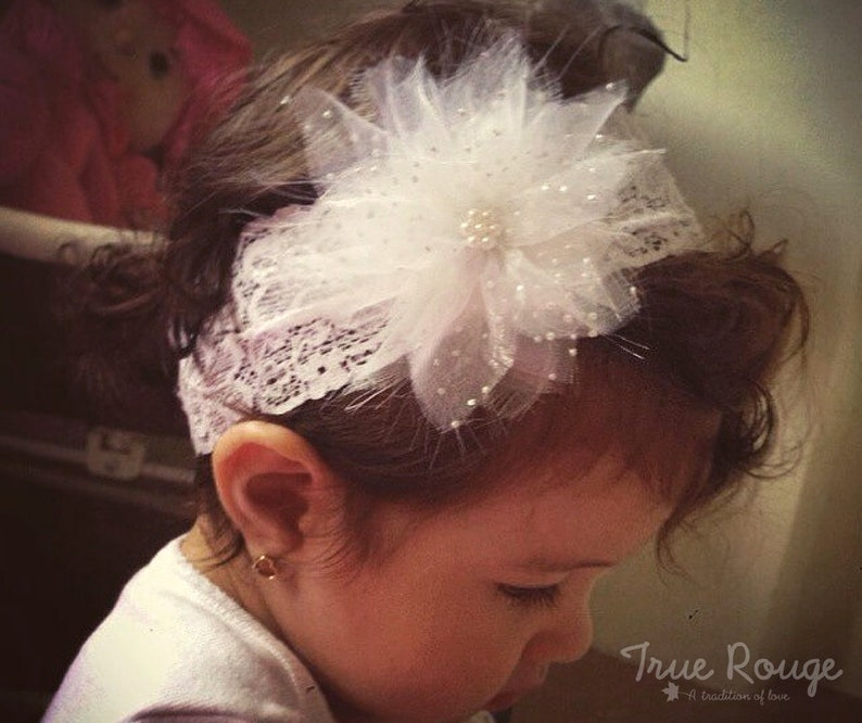 Handmade Fabric Shooting Star Headband for Baby Girls image 0