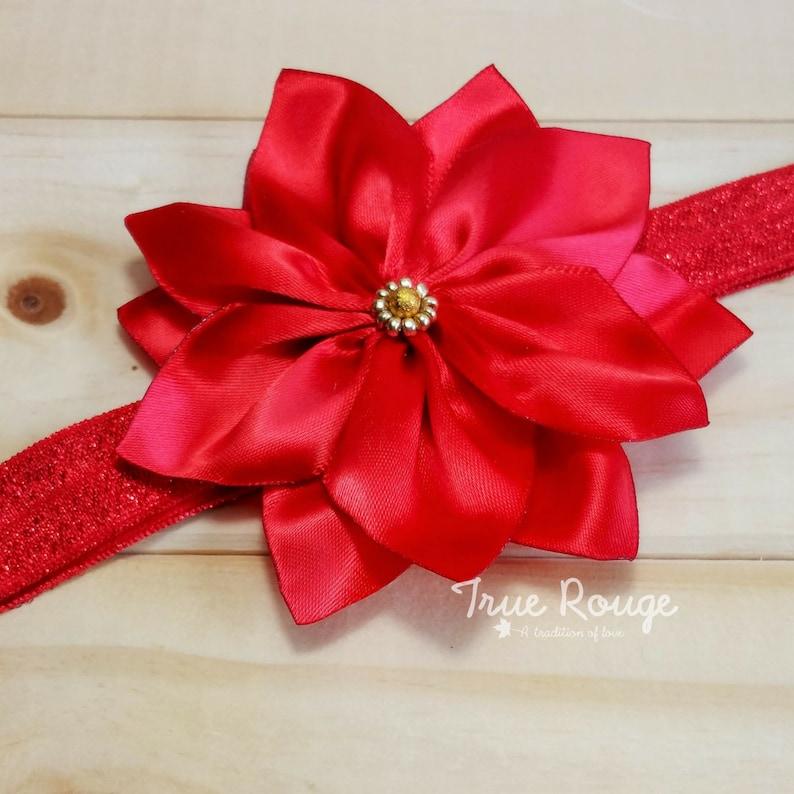 Poinsettia headband image 0
