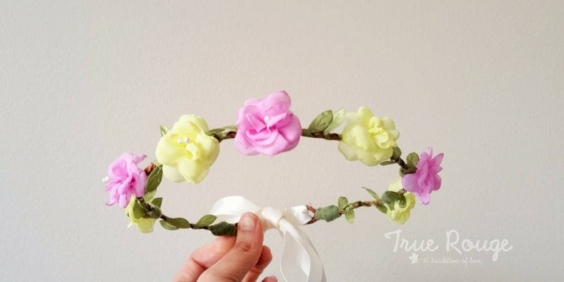 Boho flower crown ideal for Weddings Bridesmaids or Brides image 0