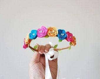 Fuchsia Petit Fiesta Baby Flower Crown