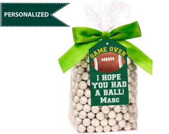 Football Favor tags Football decorations Football gift tags Football stickers Football birthday party Football labels Football thank you tag