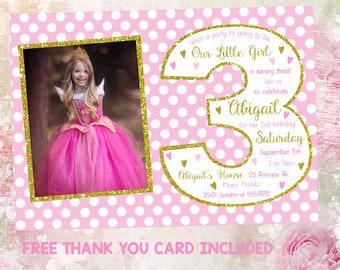 3rd birthday invite etsy 3rd birthday invitation girl third birthday party girl invitation third birthday invitations princess filmwisefo