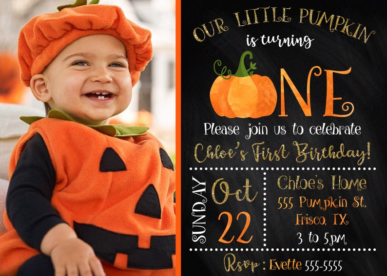 Halloween 1st birthday invitation Halloween first birthday image 1