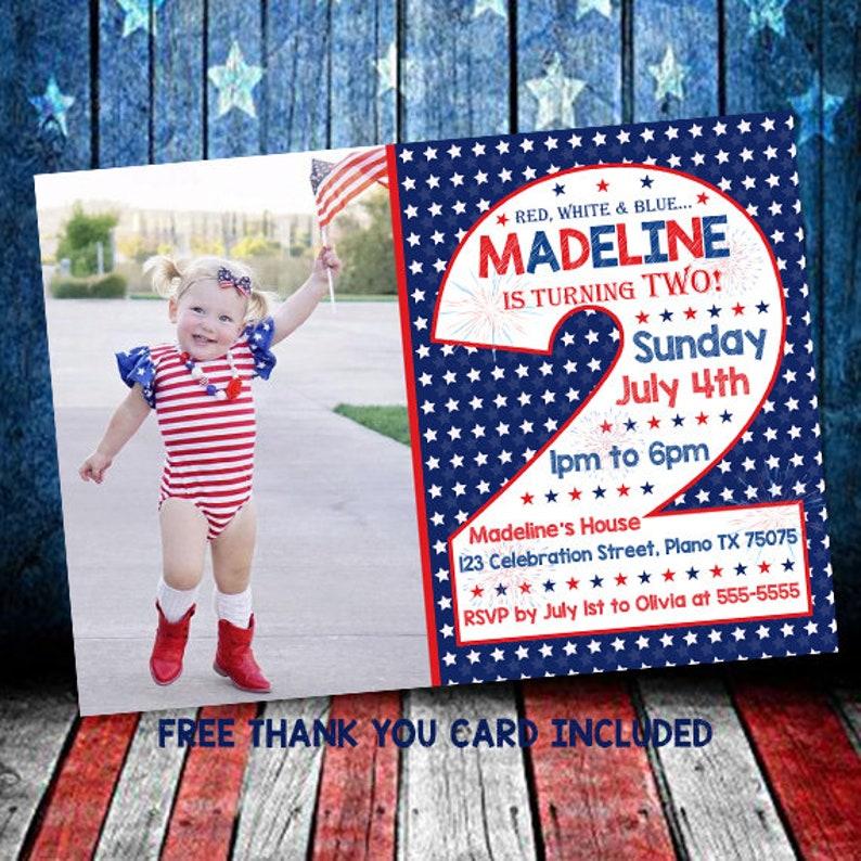 4th Of July Invitation Birthday