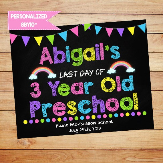 picture about Last Day of Preschool Sign Printable referred to as Past Working day of College Indication PRINTABLE, Very last Working day of Faculty Chalkboard Signal Electronic Past Working day of Preschool Signal 2019 Poster Lady Finish Calendar year ANY Quality