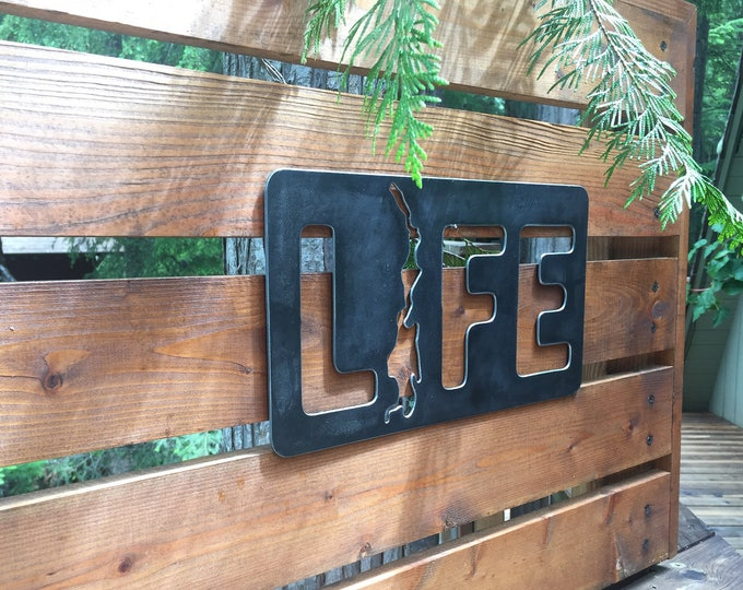 Featured listing image: Priest Lake Life - Steel Metal Sign