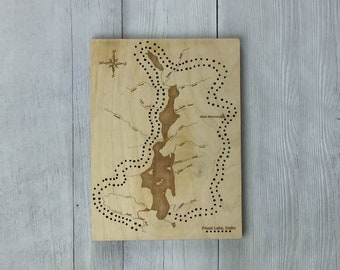 Priest Lake Cribbage Board