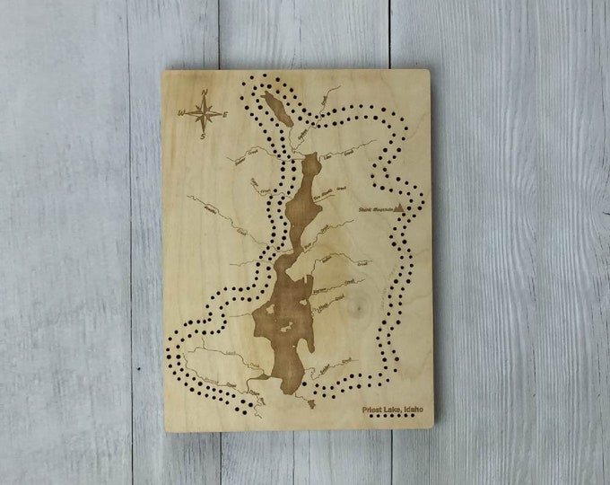 Featured listing image: Priest Lake Cribbage Board