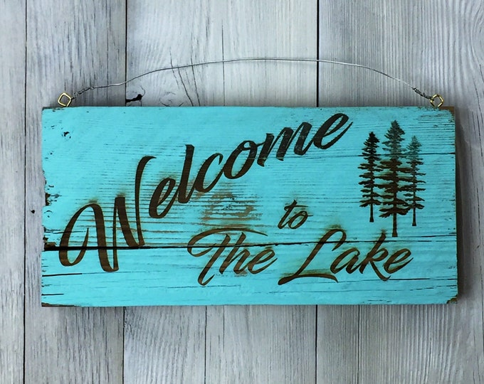 Featured listing image: Welcome to the Lake - Barn Wood Sign