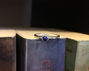 Lapis Silver stackable ring