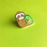 Avocado Sloth Hard Enamel Pin