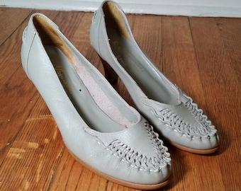 eda8af5516a Daniel green vintage boudoir slippers black satin pumps 60s