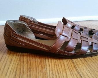 41a825d2d564 huaraches woven leather flats vintage huarache sandals