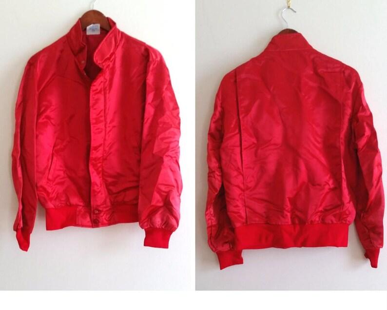 7f868918881a Red bomber jacket silky bomber jacket retro 90s bomber 80s