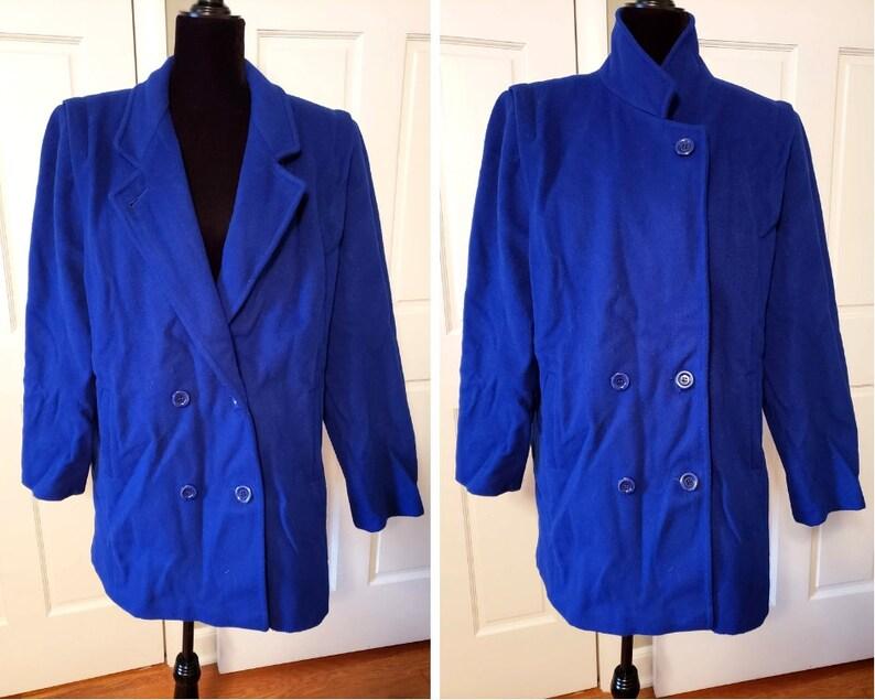 e2bc3c3147e52 Vintage blue pea coat forecaster of boston long wool coat