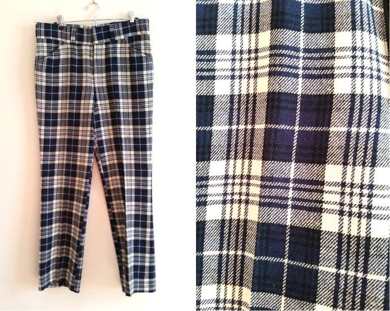 39b6b4eec3ce0e Vintage wool pants high waist pants vintage plaid pants | Etsy