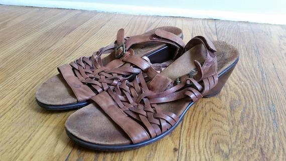 c2ea07c9adf3 huaraches   huarache sandal heels woven leather heels brown