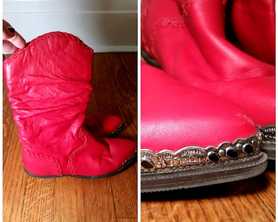 red cowgirl boots red leather boots red cowboy boo