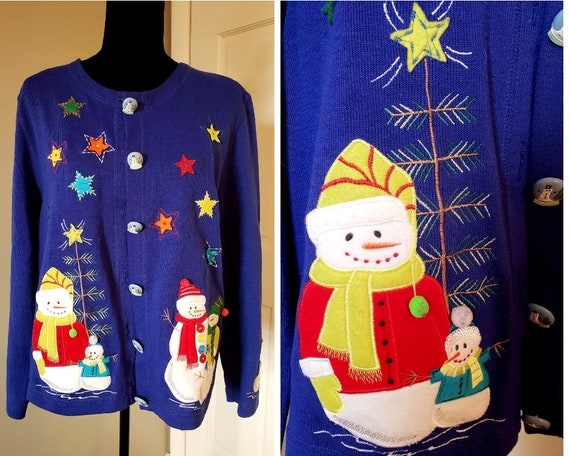 Vintage ugly christmas cardigan ugly sweater party ugly  31b3934dd