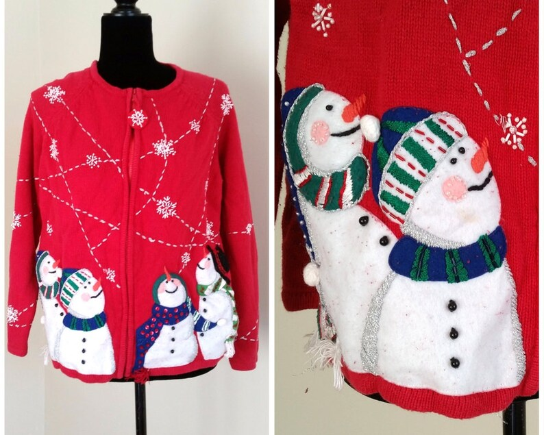 Ugly sweater party vintage snowman christmas sweater ugly  70cc8cf29