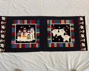 Christmas fabric panel. Free shipping