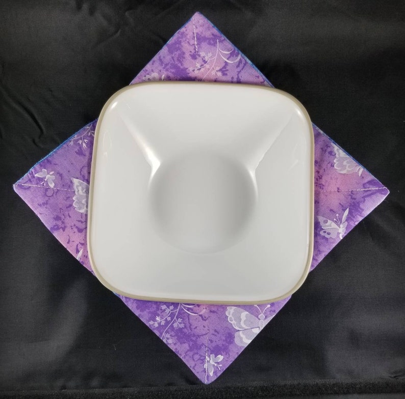 Purple /& Blue butterfly Bowl Cozy