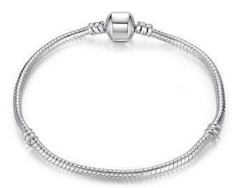Silver plated snake Chain Bracelet