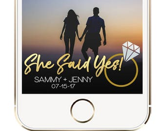 Snapchat Geofilter Engagement, Engagement Geofilter, Engagement Party Geofilter, Proposal Geofilter, She Said Yes Geofilter, Proposal Filter