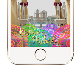 Mehndi Snapchat Geofilter, Indian Wedding Geofilter, Mehndi Filter, Indian Wedding Ideas, Indian Mehendi Dholki Sangeet Snapchat filter
