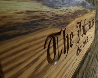Oak wood sign, wooden sign, oak home sign, oak home name