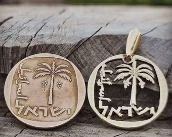 Cut Coin Pendant, Coin Pendant, Stunning Necklace, Pendant Forever, Amazing Necklace, Palm Tree, Coin Necklace, Vacation Pendant, Stunning
