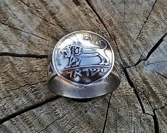 Lion Ring, Coin Rings for Women, Jerusalem Ring, Lion of Judah Ring, Jewish Rings for Men, Coin Ring, Coin Rings for Mem, Lion Rings, Ring