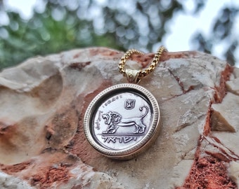 Lion of Judah,Silver Lion Pendant,Mens Lion Pendant,Lion Pendant,Lion Necklace,Silver Lion of Judah,Silver Lion,Coin Pendant,Lion Coin