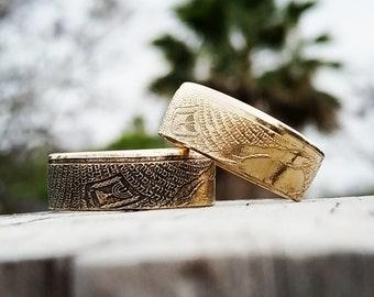 Israeli Coin Ring, Wedding Band, Baron Rothschild, Wedding Ring, Engagement Band, Coin Ring, Handmade Jewelry, Anniversary Ring, Jewish Ring