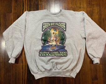 3b1091235 Vintage Green Bay Packers 1997 Super Bowl Champions Starter Sweatshirt