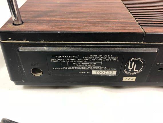 vintage realistic pro 2010 receiver scanner programmable rh etsy com Cop Scanner Manuals Cop Scanner Manuals