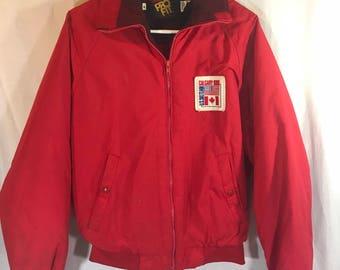 Vintage 1988 Calgary USA Ski Team Olympics Jacket King Louie Pro Fit