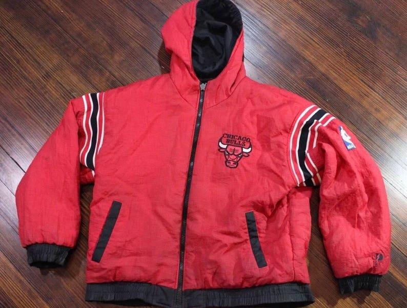 Vintage 90s Chicago Bulls Pro Player Reversible Coat Jacket  62c0da490ee5