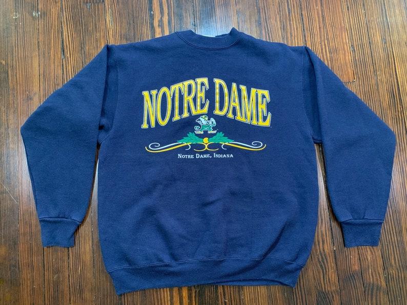 08367483a Vintage Notre Dame Fighting Irish Blue Crewneck Sweatshirt | Etsy