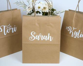 Bridesmaid Gift Bag- Wedding Gift Bag, Personalized Bag, Personalized Gift Bag, Name Gift Bags