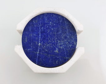 Set of 4 Lapis Lazuli Coasters