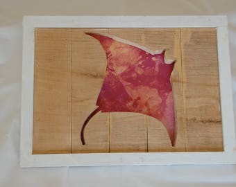 Stingray Framed Cutout Wall Art