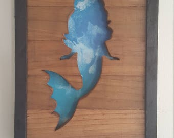 Mermaid Framed Cutout Wall Art